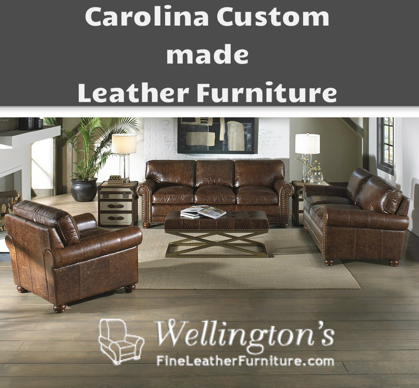 Terrific Carolina Custom Leather Furniture Wellingtonsleather Pabps2019 Chair Design Images Pabps2019Com