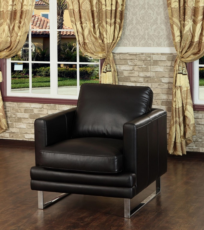 Quick Ship Melbourne Leather Chair Ottoman