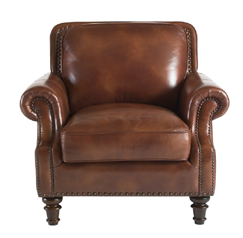 Bremerton Leather Chair & Ottoman