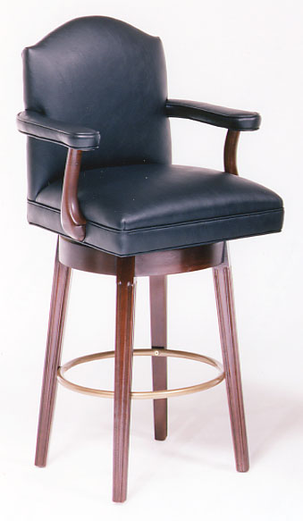 Corral Swivel Barstool In Leather