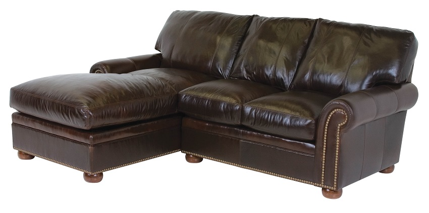 Easton Leather Sofa With Chaise