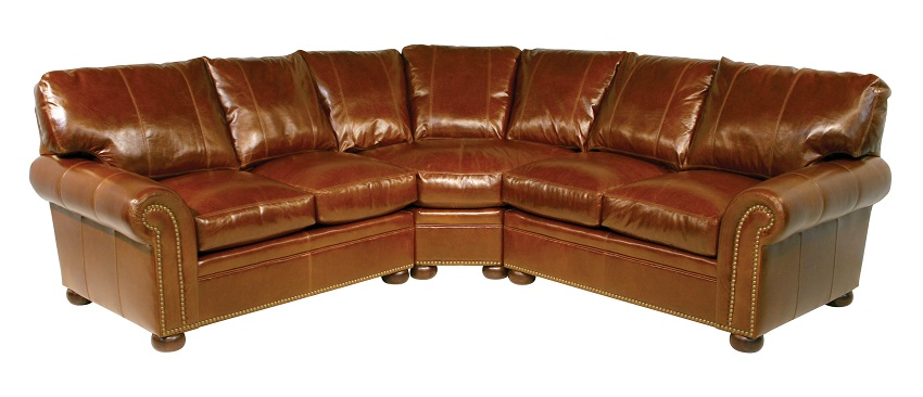 Leather sectional sofas easton leather sectional for Easton leather sectional sofa