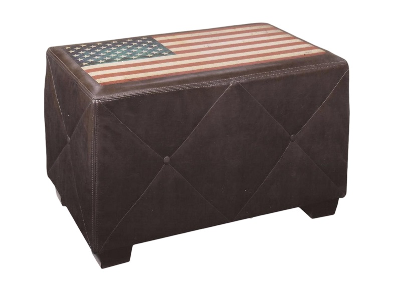 American Leather Cocktail Ottoman/Bench