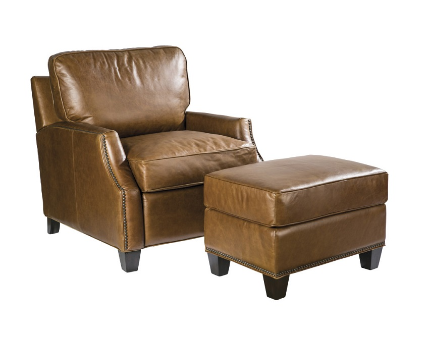 Anderson Leather Chair & Ottoman
