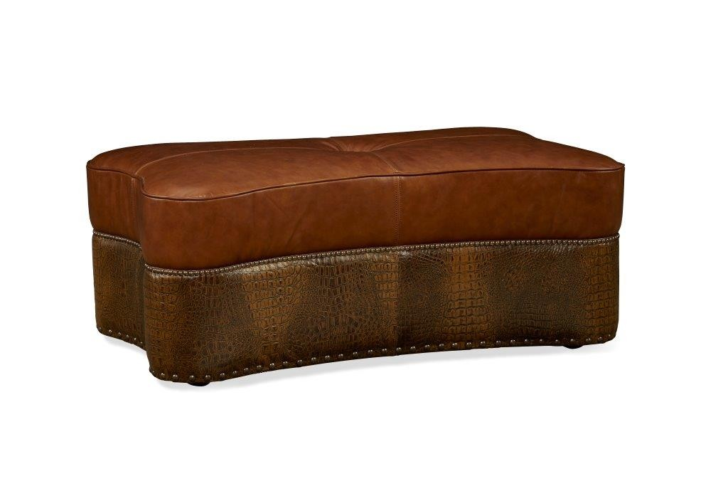 Kasey Leather Cocktail Ottoman