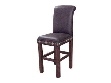 Justice Armless Leather Bar Stool