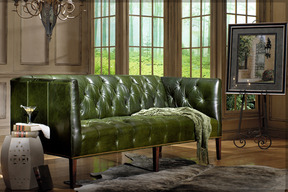 Tufted Leather Shelter Sofa