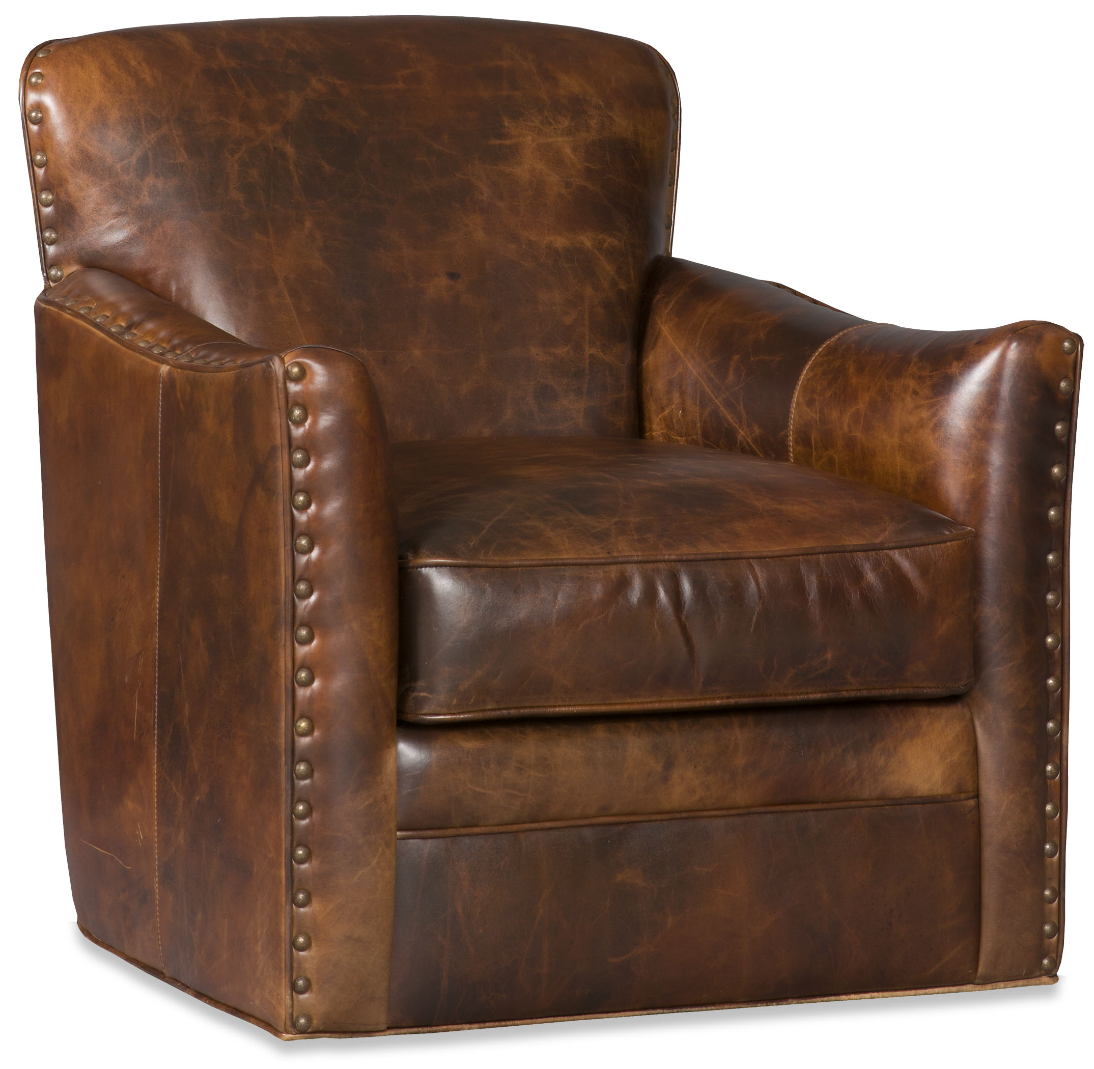 Luna Leather Swivel Chair