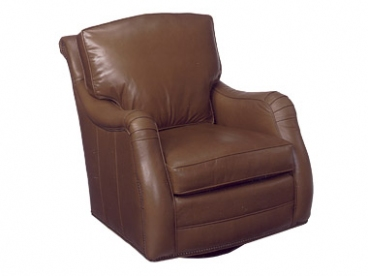High Point Leather Swivel Glider Chair