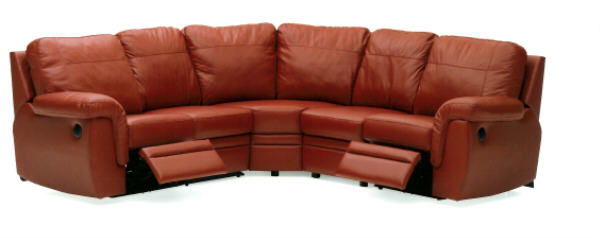 Brunswick Leather Reclining Sectional