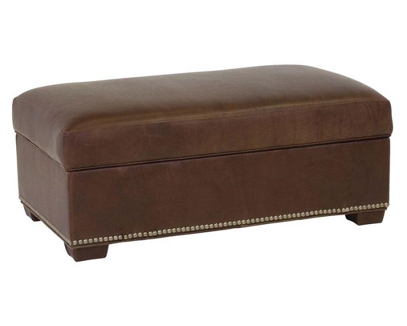 leather cocktail ottoman wrenn leather storage ottoman. Black Bedroom Furniture Sets. Home Design Ideas