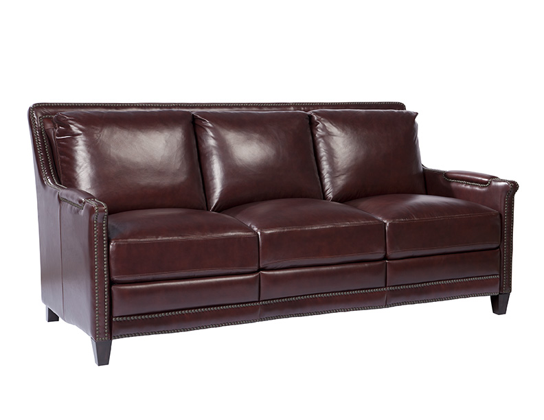 In Stock Leather Furniture Prescott Leather Sofa In Hazelnut