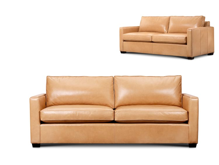 Gilbert Leather Loveseat