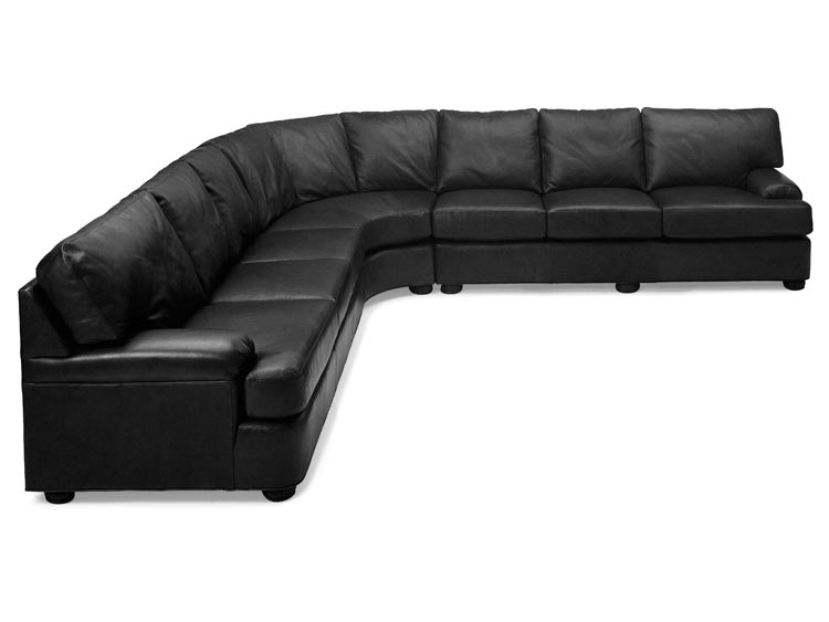 High Quality Leather Sectional From Leathercraft Sold At