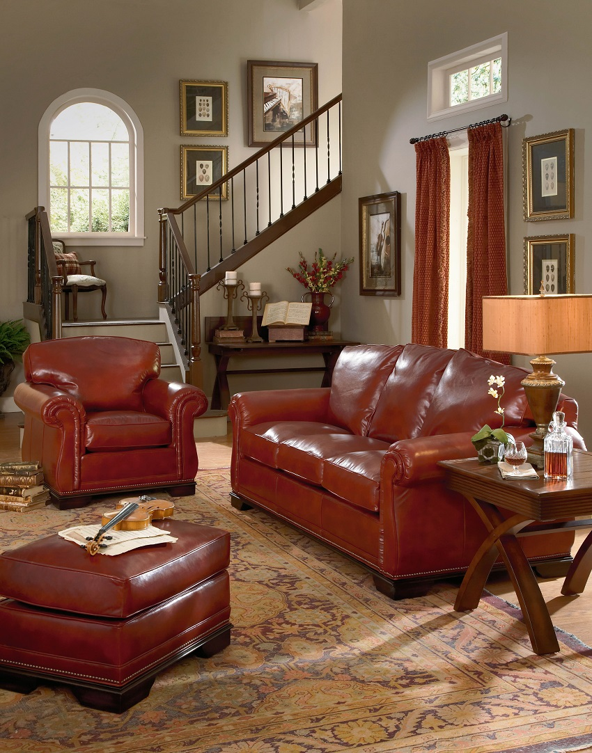 Leather Loveseats Frazier Leather Loveseat