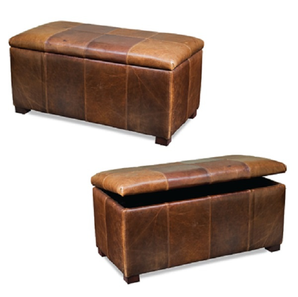 Leather Storage Bench