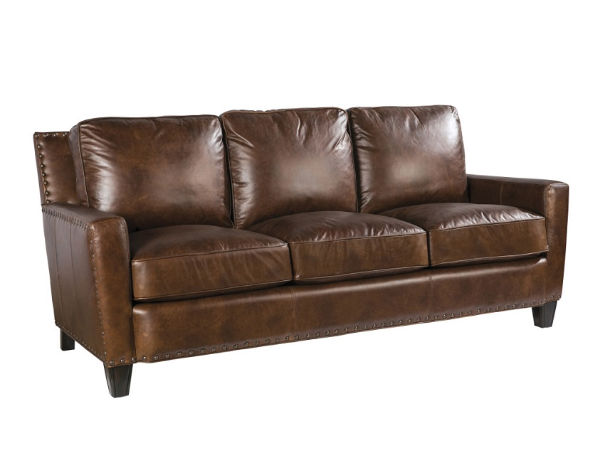 Quick Ship Alvarado Leather Sofa