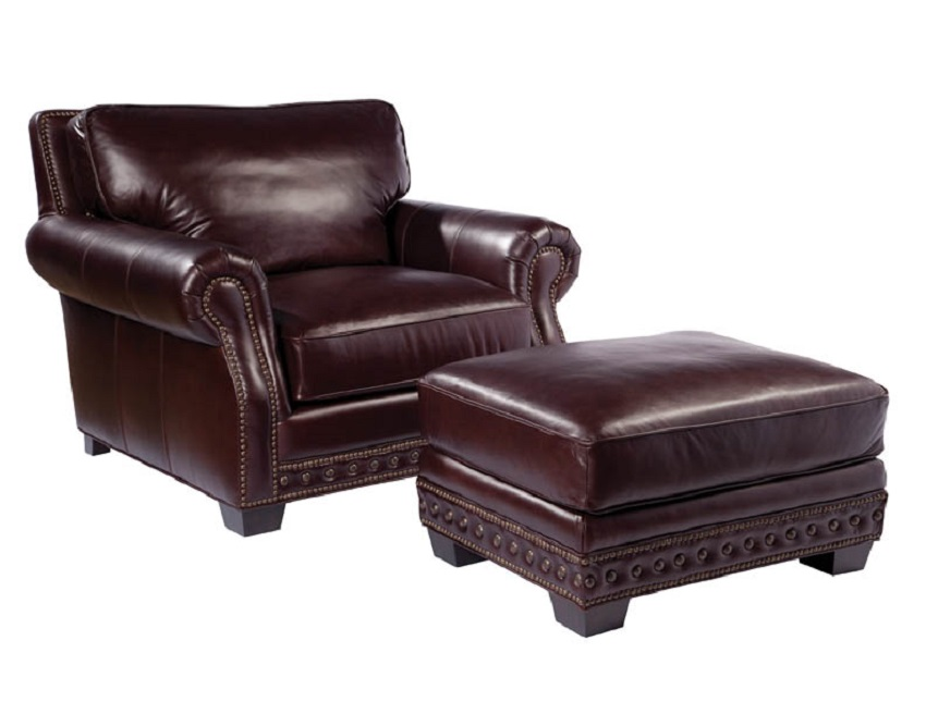 Canyon Leather Chair & Ottoman