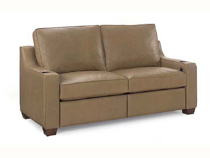 O'Reilly Motorized Reclining Leather Short Sofa