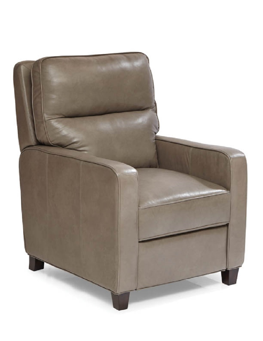 Alameda Leather Recliner In Grey