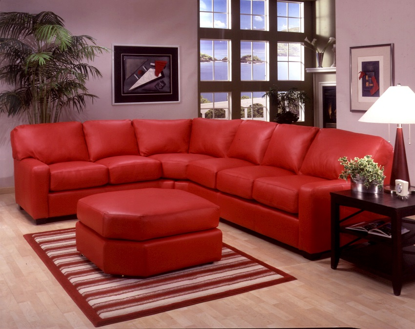Albany Leather Sectional