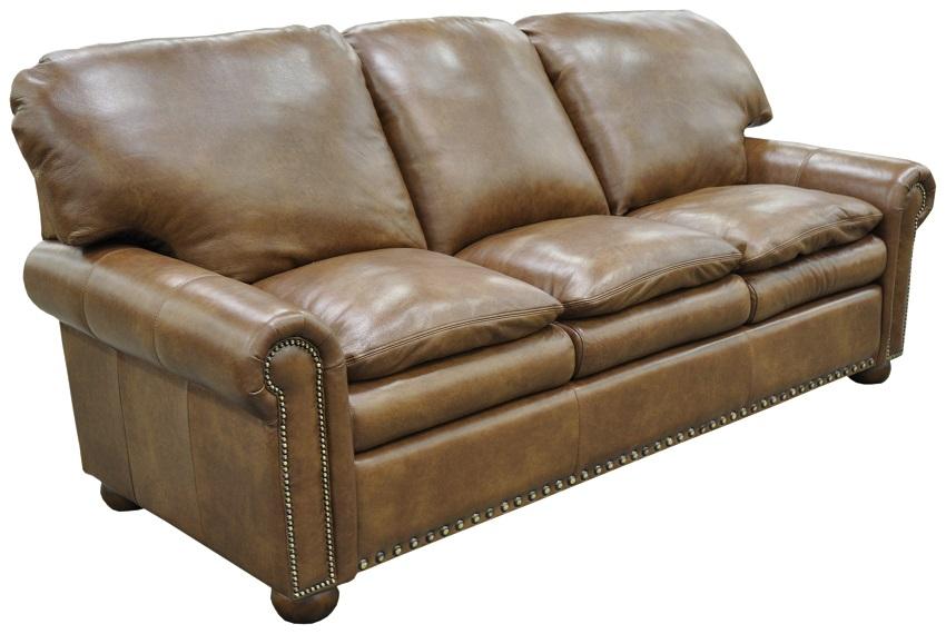 austin leather sofa detail