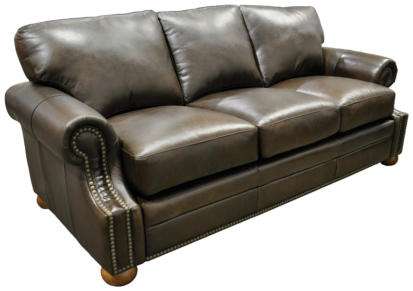 Bennett Leather Full Size Sofa Sleeper