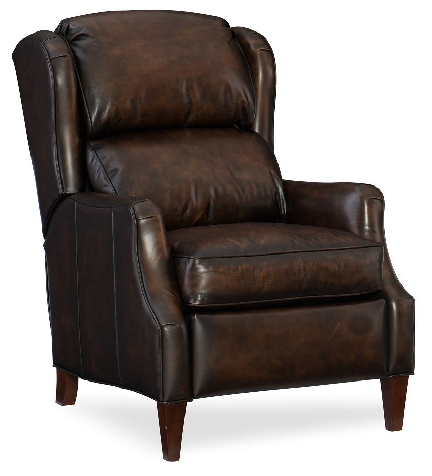 Strickland recliner with articulating headrest by for Leather wingback recliner sale