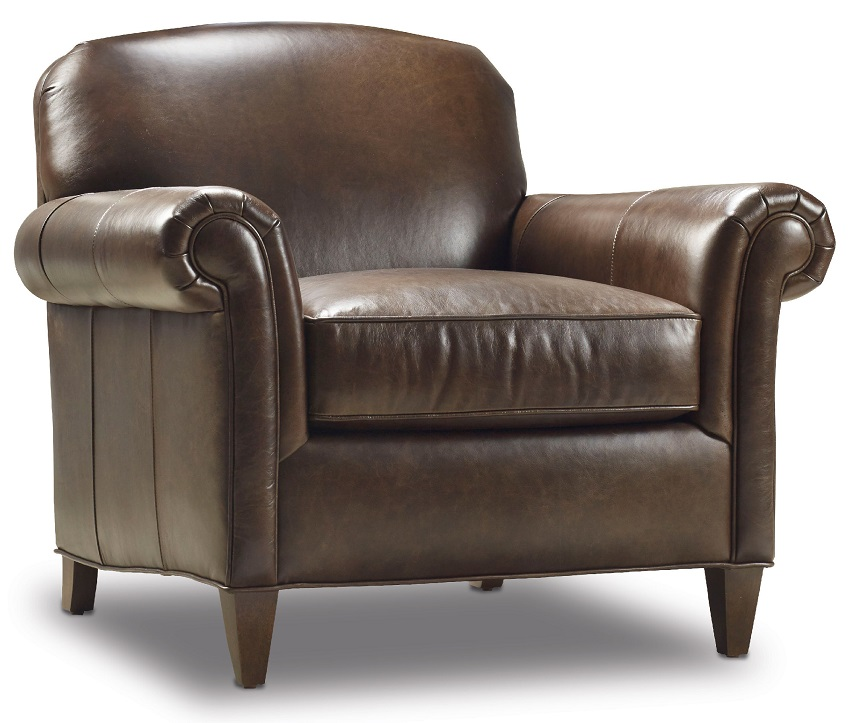 George Leather Chair & Ottoman