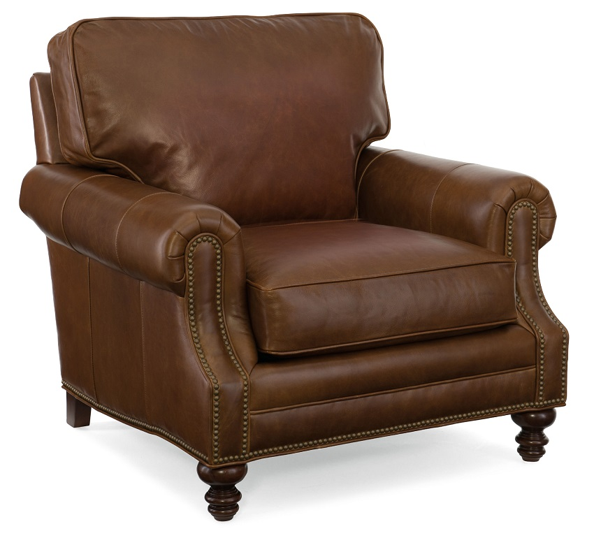 Aaron Leather Chair & Ottoman