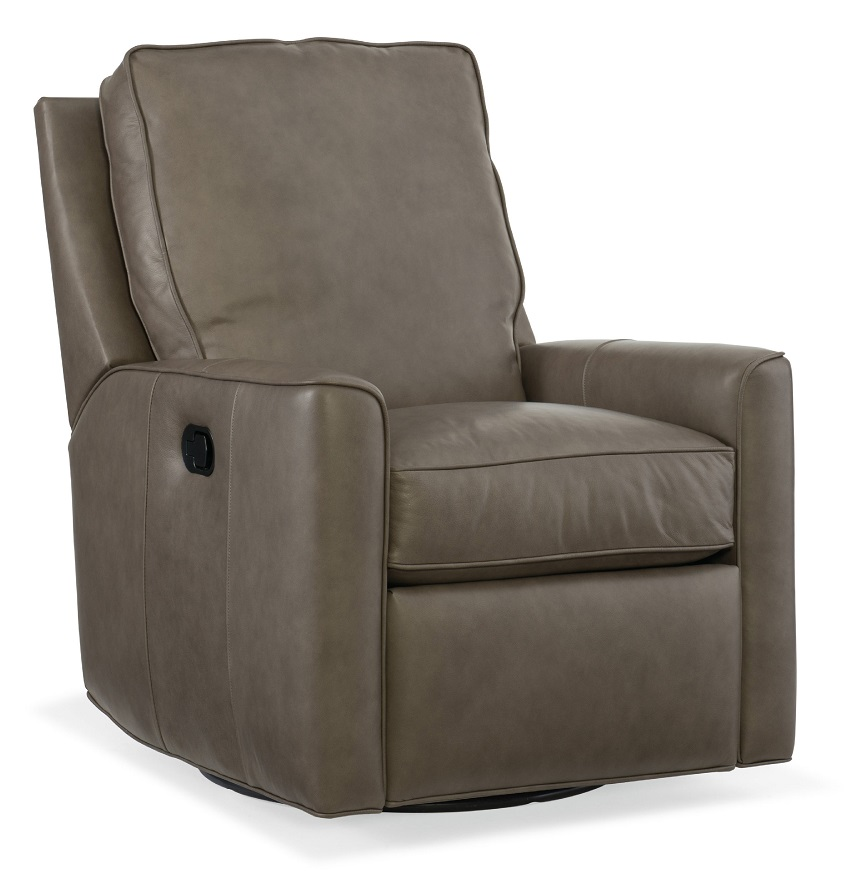 Yorba Leather Swivel Glider Recliner