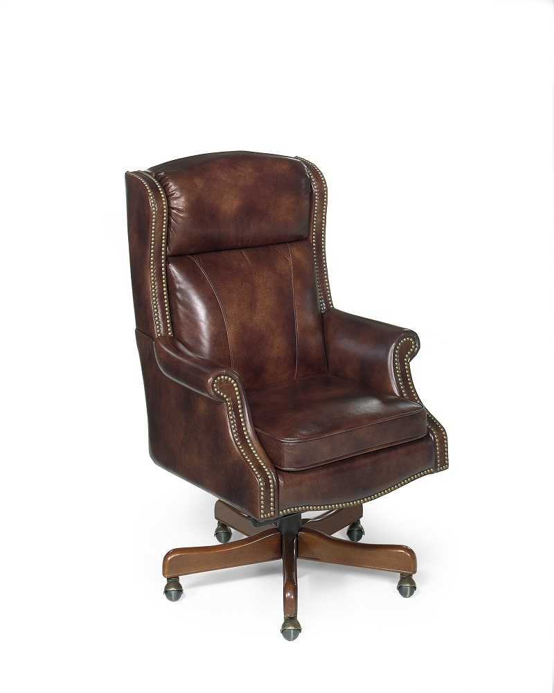 quick ship brown leather executive chair. Black Bedroom Furniture Sets. Home Design Ideas