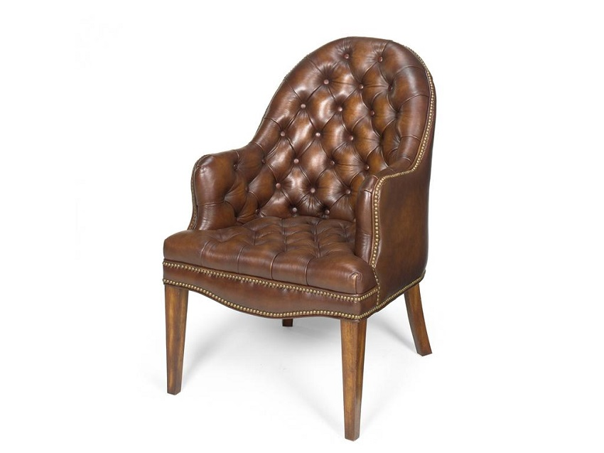 Prairie Meadow Leather Side Chair