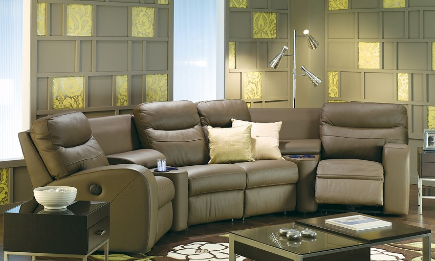 Glenlawn Leather Reclining Sectional