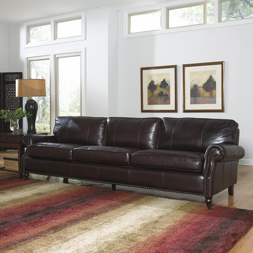 In Stock Leather Furniture Stockton Leather Sofa