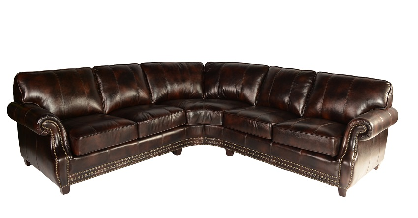 Anna Brown Leather Sectional