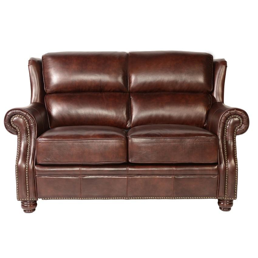 Oakwood Furniture North Carolina ~ Quick ship oakwood leather loveseat