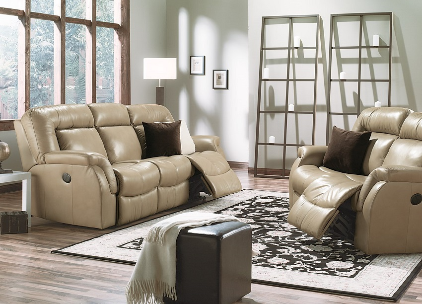 Leaside Leather Reclining Sofa