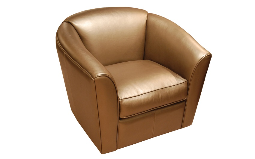 Ogden Leather Swivel Chair