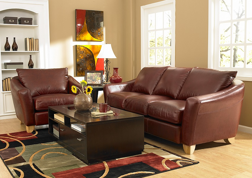 Spencer Leather Loveseat