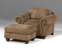 Carlson Leather Chair & Ottoman