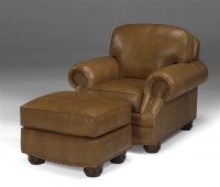 Lincoln Leather Chair & Ottoman