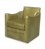 Rilan Leather Swivel Chair