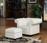 Victoria Leather Chair & Ottoman