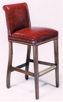 Estate Leather Barstool