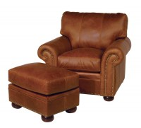 Easton Leather Chair & Ottoman