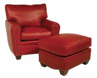 Roland Leather Chair & Ottoman