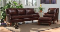 Classic Leather Sofa Group