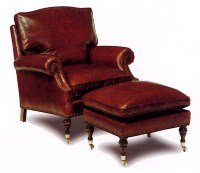 Ludlow Leather Chair and Ottoman
