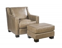 Colby Leather Chair & Ottoman